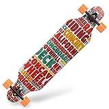 Highway Skateboarding Boys and Girls Skateboard High-Elastic PU Wheel Skateboard Skill Skateboard (Color : B)