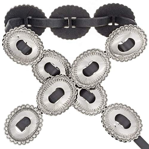 Native American Concho Belt First Phase Silver Style 0035