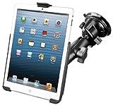 RAM Mount Suction Cup Mount w/Apple iPad mini EZ-ROLL'R Cradle