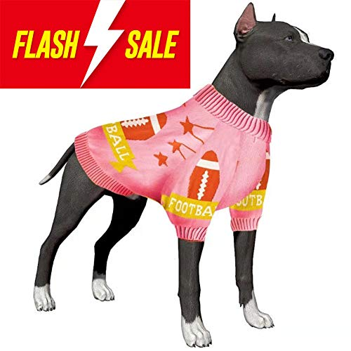 LovinPet Dog Sweater, Dog Jacket Winter Coat for Big Dogs, Pure Cotton Warm Large Dog Sweater Pajamas for Large Dogs (Pitbull, Boxer, Mix, Lab, Doberman, Short-haired Breeds etc.)