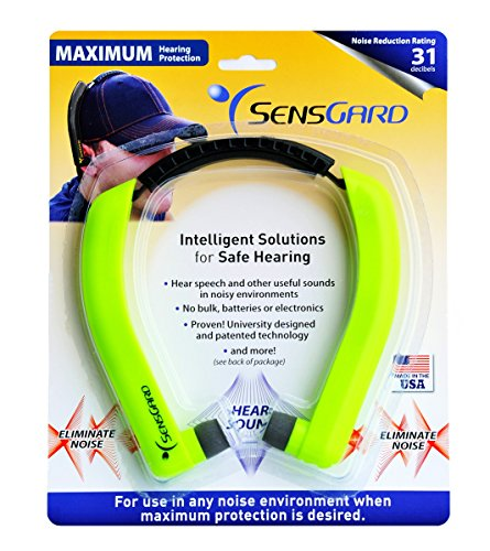 SensGard SG-31 Lightweight Hearing Protection Band NRR 31dB (Bright Green)