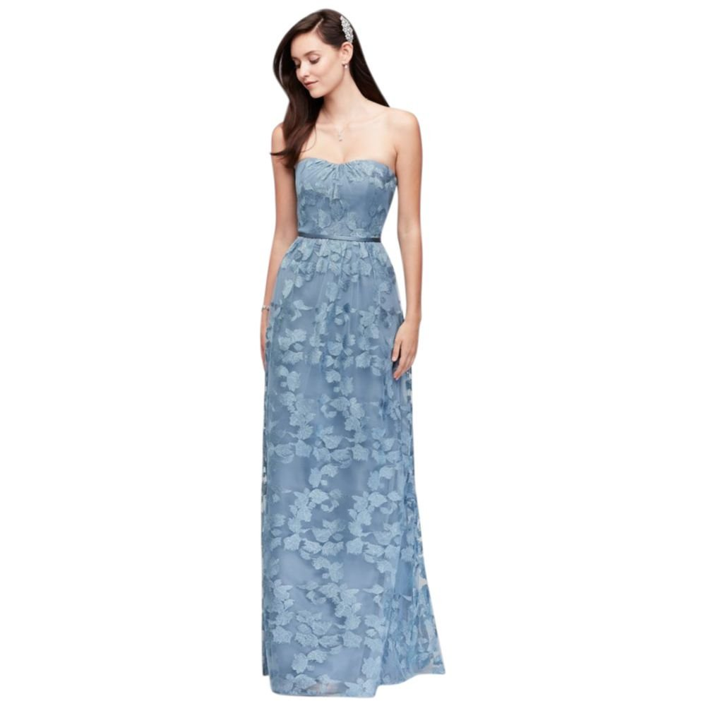 Embroidered Long Strapless Bridesmaid Dress Style OC290028 at Amazon ...