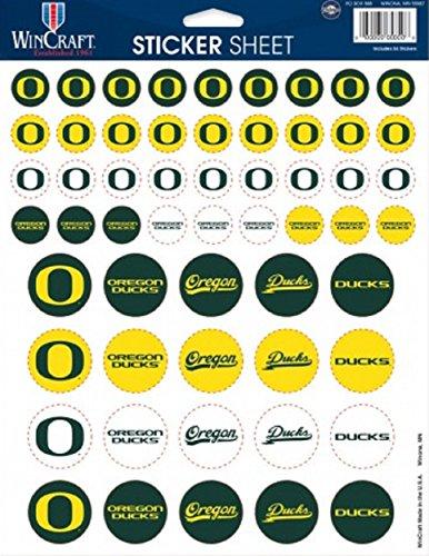 Wincraft NCAA University of Oregon Vinyl Sticker Sheet, 8.5