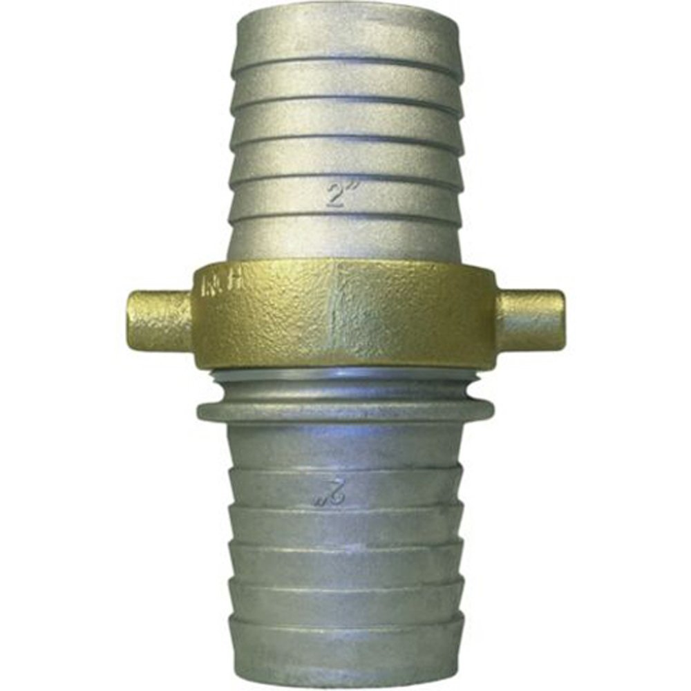 HydroMaxx 4'' Diameter Aluminum Pin Lug Connector Hose Shank for Lay Flat and Suction Hoses, Aluminum/Brass by HydroMaxx