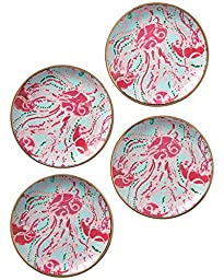 Lilly Pulitzer Ceramic Coaster Set, Jellies Be Jammin\' (153402)
