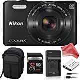 Nikon Coolpix S7000 16 MP ALL YOU NEED Digital Camera BUNDLE - Nikon Coolpix S7000 + 32GB SD Card + Compact Camera Case + Replacement Battery & Charger + DigitalAndMore Microfiber Lens Cleaning Cloth