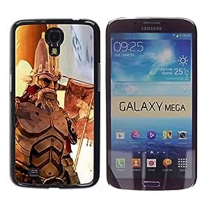 EJOY---Cubierta de la caja de protección la piel dura para el / Samsung Galaxy Mega 6.3 / --Guerra héroe de edad