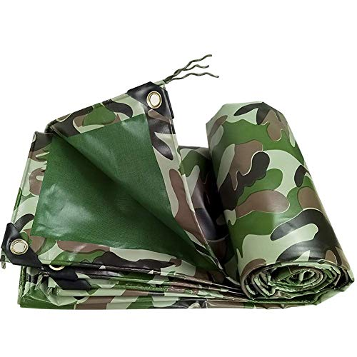 Camouflage Tarpaulin PVC Double Waterproof Tent Stitching Awning 450g/m2 Heavy Duty for Outdoor Tent Camping Hammock Swimming Pool Garden Car Motorcycle Boat Dustproof Cold Anti Corrosion 0.4mm Thick