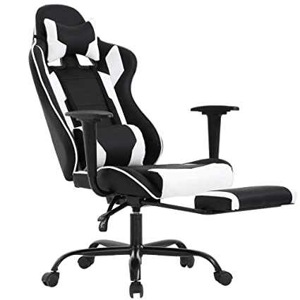 Best Office Chairs For Back Support >> Bestoffice Ergonomic Office Chair Pc Gaming Chair Cheap Desk Chair Executive Pu Leather Computer Chair Lumbar Support With Footrest Modern Task