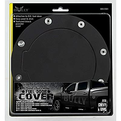 Bully BBS-2301 Billet Aluminum Stick-On Removable Fuel/Gas Door Cover - Car Accessory or Replacement for Trucks from Cadillac, Chevrolet, GMC, Ford, Toyota, Jeep, Dodge: Automotive
