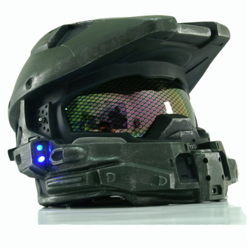 [XCOSER Master Chief Helmet Full Head Mask for Halloween Cosplay LED] (Master Chief Halo Costumes For Kids)