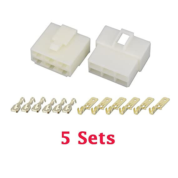 Amazon.com: 5 Sets/kits All New 6 Pin/Way DJ7061-6.3 Electrical Wire ...