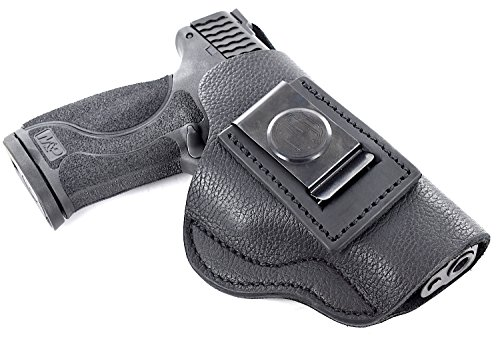 1791 GUNLEATHER Premium Leather Holster - IWB CCW Holster - Right Handed Leather Gun Holster - Fits Smith & Wesson MP Shield, Ruger SR9, SR40, Springfield XDS, XD9 (SCH-4)