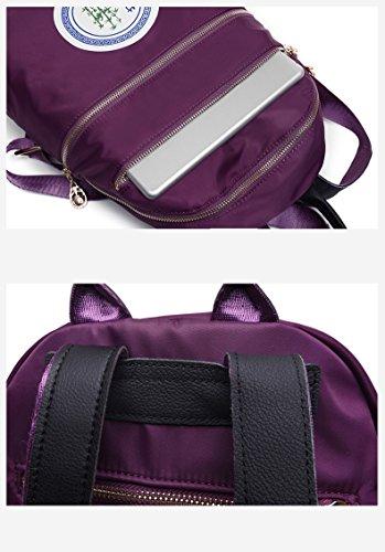 léger sac de à à d'épaule bandoulière sac Black larme léger le de sac multicolore à nylon portatif Les femmes dos dos plissé imperméabilisent zqFFxgw1