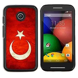 """Be-Star Único Patrón Plástico Duro Fundas Cover Cubre Hard Case Cover Para Motorola Moto E / XT1021 / XT1022 ( Bandera nacional de la Serie-Turquía"""" )"""