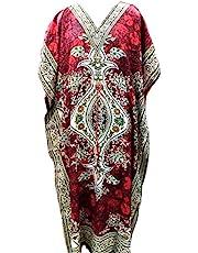 فستان كيمونو طويل بياقة على شكل حرف V للسيدات من RiSi