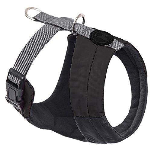 Gooby - Memory Foam Head-in Harness, Small Dog Fleece Lined Harness with Memory Foam Padding, Black, X-Small ()