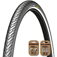 MICHELIN Protek Road / City / Race Cycle Bike Tire - ALL SIZES - 1mm or 5mm Protection - Wirebead - FREE VALVE CAP UPGRADE WORTH $4.99!