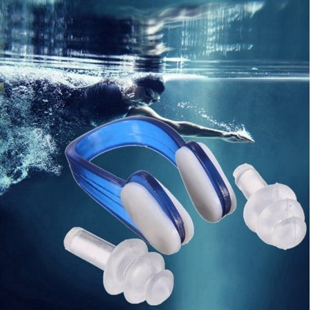 Price comparison product image Soft Silicone Swimming Nose Clips 2 Ear Plugs Earplugs Diving Sporting Protector Clip by Abcstore99