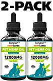 Kinpur (2 PACK | 24 000MG) Hemp Oil for Dogs & Cats - Anxiety Relief for Dogs & Cats - Pet Hemp Oil - Supports Hip & Joint Health - Made in USA - Natural Relief for Pain - Omega 3, 6 & 9