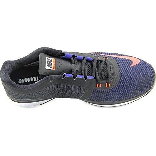 Nike Zoom Speed Tr3, Zapatillas de Deporte para Hombre Azul / Naranja / Negro / Blanco (Mid Navy / Hypr Orng-Blk-White)