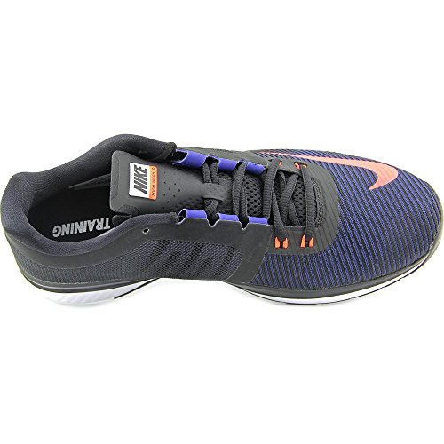 Nike Zoom Speed Tr3, Scarpe Stringate Basse Brogue Uomo Azul / Naranja / Negro / Blanco (Mid Navy / Hypr Orng-blk-white)