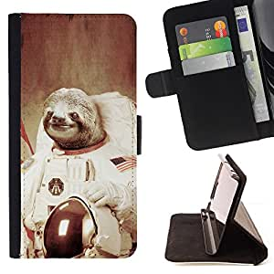 For HTC One Mini 2/ M8 MINI Moon Space Travel Art Tree Sloth Animal Cosmos Style PU Leather Case Wallet Flip Stand Flap Closure Cover