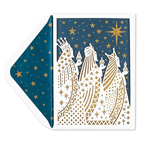 (Papyrus White & Gold Wise Men Christmas Card)