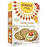 Simple Mills – Sprouted Seed Crackers – Everything Flavor – 4.25 oz, Gluten Free, Grain Free (1 Pack) Review