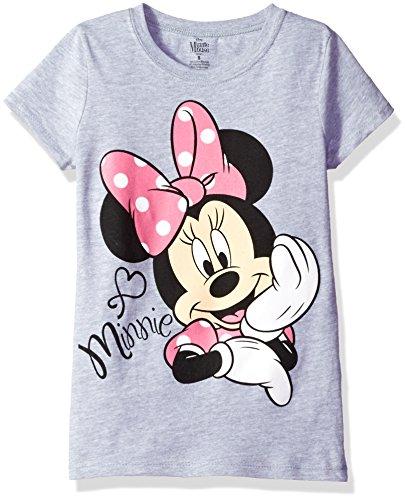 - Disney Girls' Toddler Girls' Minnie Mouse Short Sleeve T-Shirt, Heather Grey, 4T