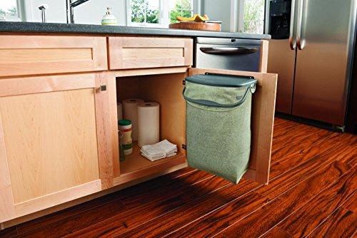 rubbermaid hidden recycler over the door under cabinet recycle waste bin bag new ebay. Black Bedroom Furniture Sets. Home Design Ideas