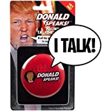 Donald Speaks Magnetic Talking Button - 8 Different Sayings - 100% Real Trump's Voice - Funny Prank Gift for Hillary Clinton or Donald Trump Fans - Fun for Democrats & Republicans - Batteries Included