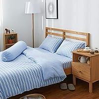 Cotton Pure™ Sky Blue Stripe Jersey Cotton Quilt Cover [King]