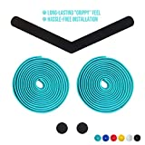 7. Alien Pros Bike Handlebar Tape EVA (Set of 2) Bianchi Green - Enhance Your Bike Grip with These Bicycle Handle bar Tape - Wrap Your Bike for an Awesome Comfortable Ride (Set of 2, Green)