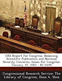 Crs Report for Congress, Dana A. Shea, 129524781X