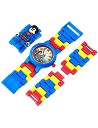 LEGO DC Comics 8020257 Super Heroes Superman Kids Minifigure Link Buildable Watch   blue/red   plastic   25mm case diameter  analog quartz   boy girl   official