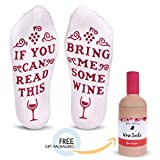 """Best Novelty Gifts - Cavertin Funny """"Bring Me Wine"""" Cotton Socks Review"""