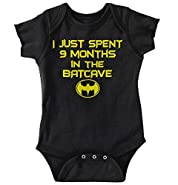 9 Month Batman Shirt | Lego Batcave Funny Gift Idea Hero Baby Romper Bodysuit