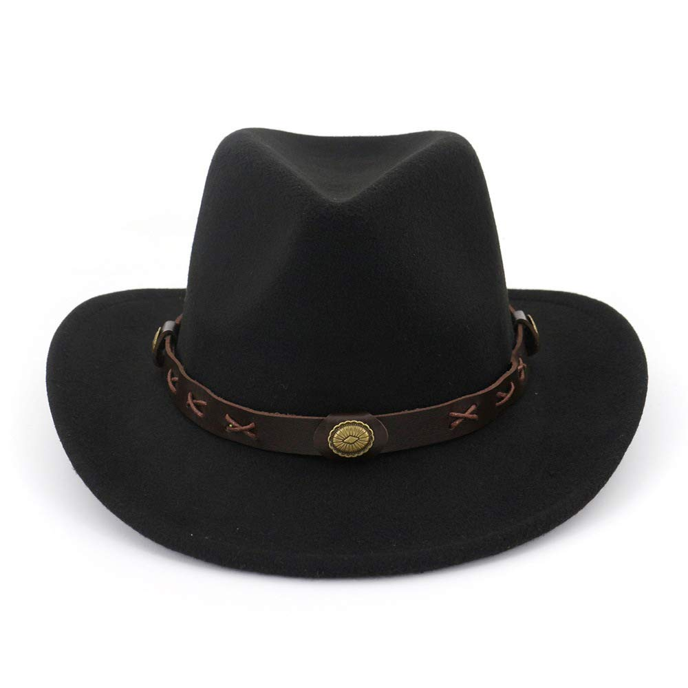 Your only family Beautiful Fashion Durable Ethnic Style Men and Women Couple Hats Woolen Western Cowboy hatWool Cotton Polyster Hat for Winter Autumn (Color : 5) by Your only family