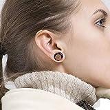 Longbeauty 40PCS Soft Silicone Ear Gauges Flesh