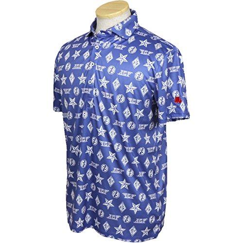 ポロシャツ メンズ フィッチェゴルフ バイ ドン コニシ FICCE GOLF BY DON KONISHI 2018 春夏 ゴルフウェア L(L) ブルー(88) 281108