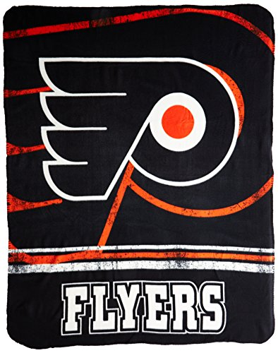 NHL Philadelphia Flyers Fade Away Printed Fleece Throw, 50-inch by 60-inch
