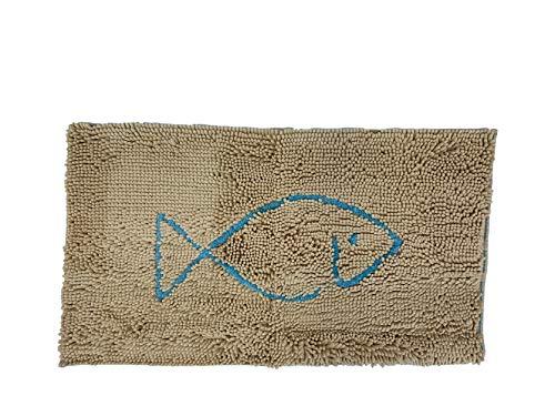 Dog Gone Smart - Aqua Sponge Mat, Absorbent Aquatic Floor Mat, Khaki, 30x58 X-Large