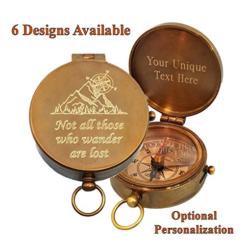 Stanley London Personalized Pocket Compass Gifts Engraved - 6 Designs - for Hiking, Graduation, Baptism, Confirmation, Anniversary, Men, Women, Him, Her, Husband, Dad, Son, Boyfriend (Tolkien) (Famous Female Best Friends)