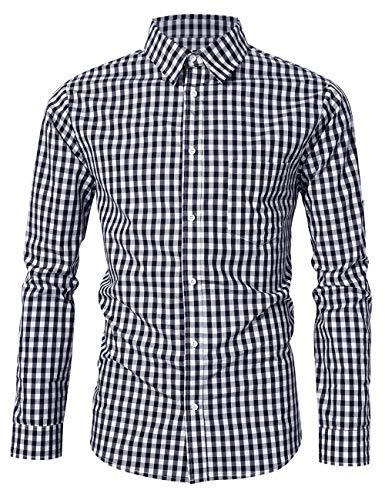 Checkered Button Up - LOMON Men's Checkered Shirt Bavarian Oktoberfest