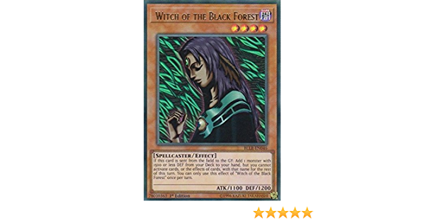 Ultra Rare 1st Edition NM YuGiOh! BLLR-EN046 1x Witch of the Black Forest