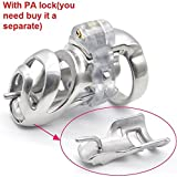 MISSLOVER 2017 Stainless Steel 3D Male Long Cock Cage Detachable PA Lock Substitutable Nail Penis Ring Chastity Device BDSM Sex Toy A359 1pcs
