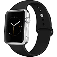 Recoppa for Apple Watch Strap, Soft Silicone Replacement Bands Compatible with Apple Watch 38mm 42mm 40mm 44mm and iWatch Series 5, Series 4, Series 3, Series 2, Series 1