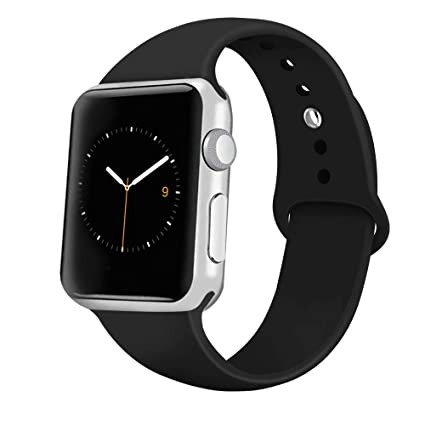 26ccc98c8 iGK Sport Band Compatible with Apple Watch 38mm 40mm 42mm 44mm, Soft  Silicone Sport Strap Replacement Bands for iWatch Apple Watch Series 4,  Series 3, ...