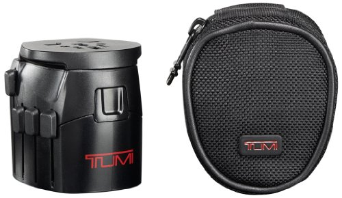 Tumi Luggage Electric Grounded Adaptor, Black, One Size